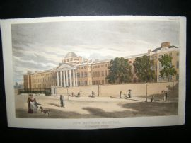 Ackermann C1810 Hand Col Print. New Bethlem Hospital, London